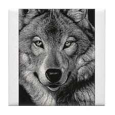 Wolf Sketch Tile Coaster
