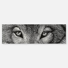 Wolf Sketch Bumper Bumper Sticker