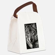 Wolf Sketch Canvas Lunch Bag
