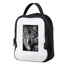 Wolf Sketch Neoprene Lunch Bag