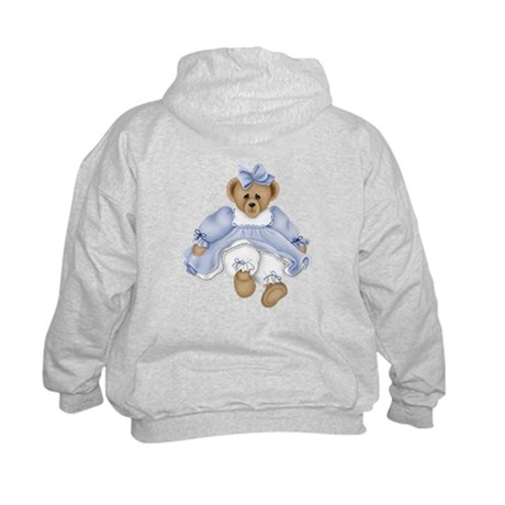 BEAR - BLUE DRESS Kids Hoodie
