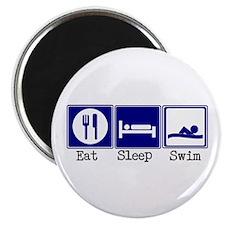 Eat, Sleep, Swim Magnet