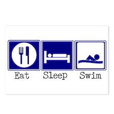 Eat, Sleep, Swim Postcards (Package of 8)