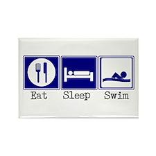 Eat, Sleep, Swim Rectangle Magnet