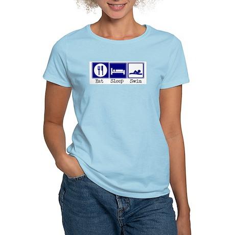 Eat, Sleep, Swim Women's Light T-Shirt