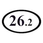 26.2 Miles Marathon Runner Oval Sticker