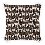 Deer on Brown Woven Throw Pillow