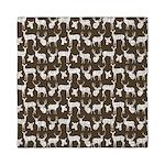 Deer on Brown Queen Duvet