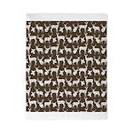 Deer on Brown Twin Duvet
