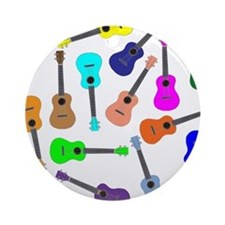Rainbow Ukuleles Ornament (Round)