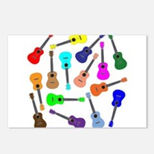 Rainbow Ukuleles Postcards (Package of 8)