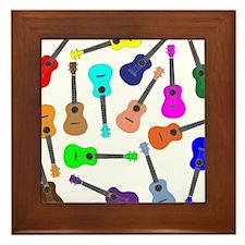 Rainbow Ukuleles Framed Tile