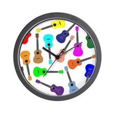 Rainbow Ukuleles Wall Clock