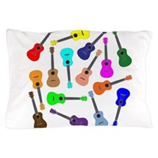 Rainbow Ukuleles Pillow Case