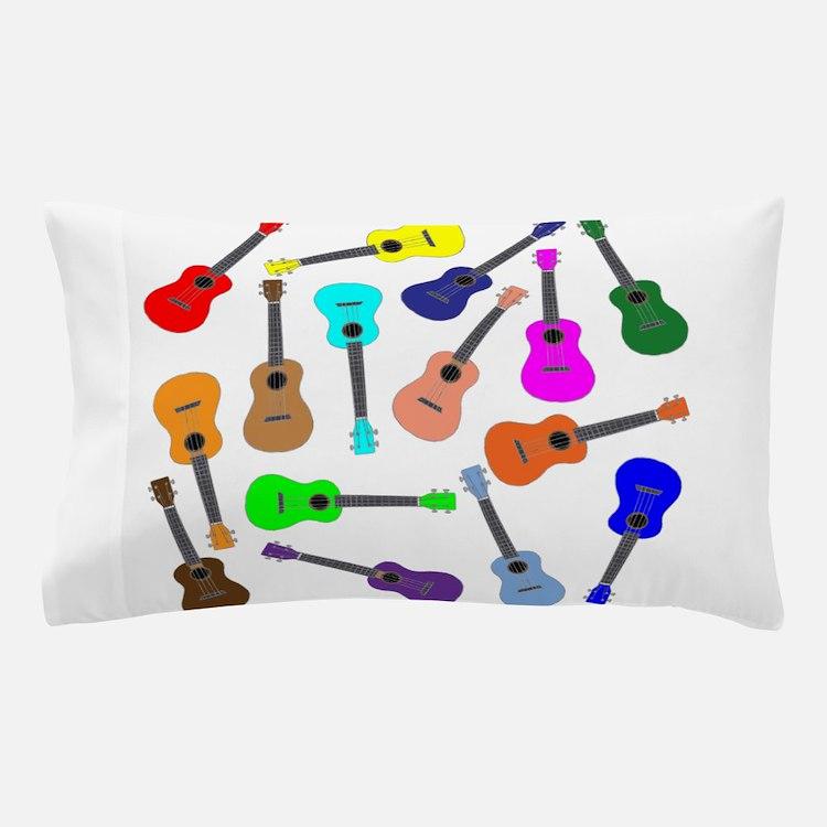 Rainbow Ukuleles Pillow Case