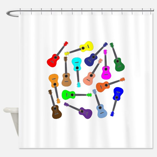 Rainbow Ukuleles Shower Curtain