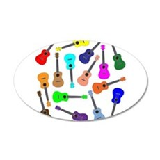 Rainbow Ukuleles Wall Decal