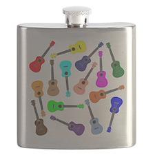 Rainbow Ukuleles Flask