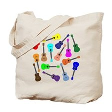 Rainbow Ukuleles Tote Bag