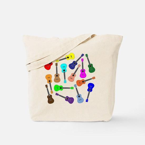 Rainbow Ukuleles Tote Bag