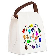 Rainbow Ukuleles Canvas Lunch Bag
