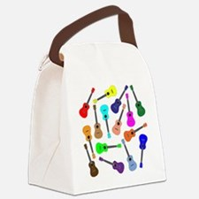 Rainbow Ukuleles Canvas Lunch Bag