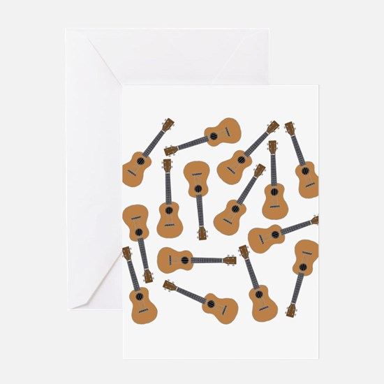 Ukuleles Ukes Greeting Cards
