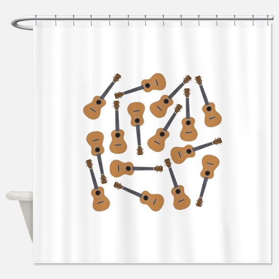 Ukuleles Ukes Shower Curtain