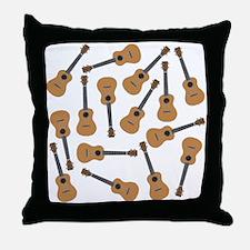 Ukuleles Ukes Throw Pillow