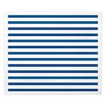 Blue and White Horizontal Stripes King Duvet