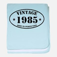 Vintage Aged to Perfection 1985 baby blanket