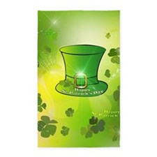 St. Patrick's Day, green hat Area Rug