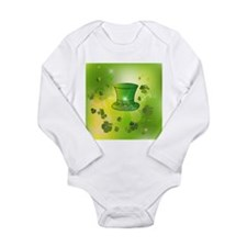 St. Patrick's Day, green hat Body Suit