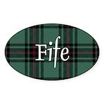 Tartan - Fife dist. Sticker (Oval)