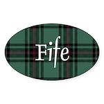 Tartan - Fife dist. Sticker (Oval 10 pk)