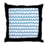 Whimsical Ocean Waves Throw Pillow