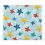 Starfish in Swirly Ocean King Duvet