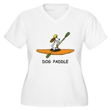 DOG PADDLE Plus Size T-Shirt