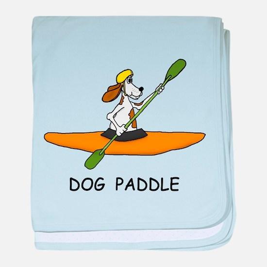 DOG PADDLE baby blanket