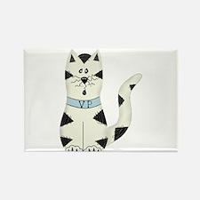 BLACK/WHITE CAT Rectangle Magnet