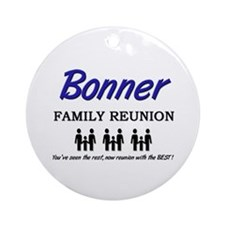 Bonner Family Reunion Ornament (Round)