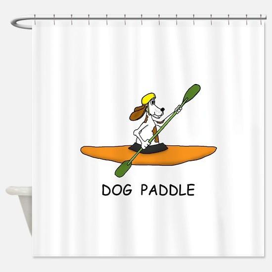 DOG PADDLE Shower Curtain