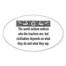 TEACHER QUOTE Decal