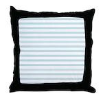 Light Blue Horizontal Stripe Throw Pillow