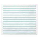 Light Blue Horizontal Stripe King Duvet