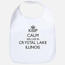 Keep calm we live in Crystal Lake Illinois Bib