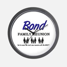 Bond Family Reunion Wall Clock