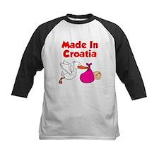 Made In Croatia Girl Baseball Jersey