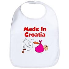 Made In Croatia Girl Bib