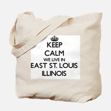 Keep calm we live in East St. Louis Illin Tote Bag